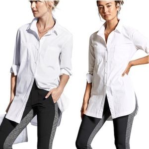 BOGO! Athleta Long and Lean Button Front Tunic Shirt